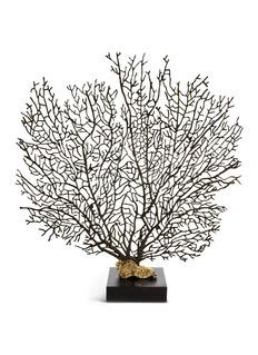 MICHAEL ARAM海扇珊瑚镀黄铜限量版雕塑