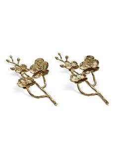 Michael AramGolden Orchid napkin ring set