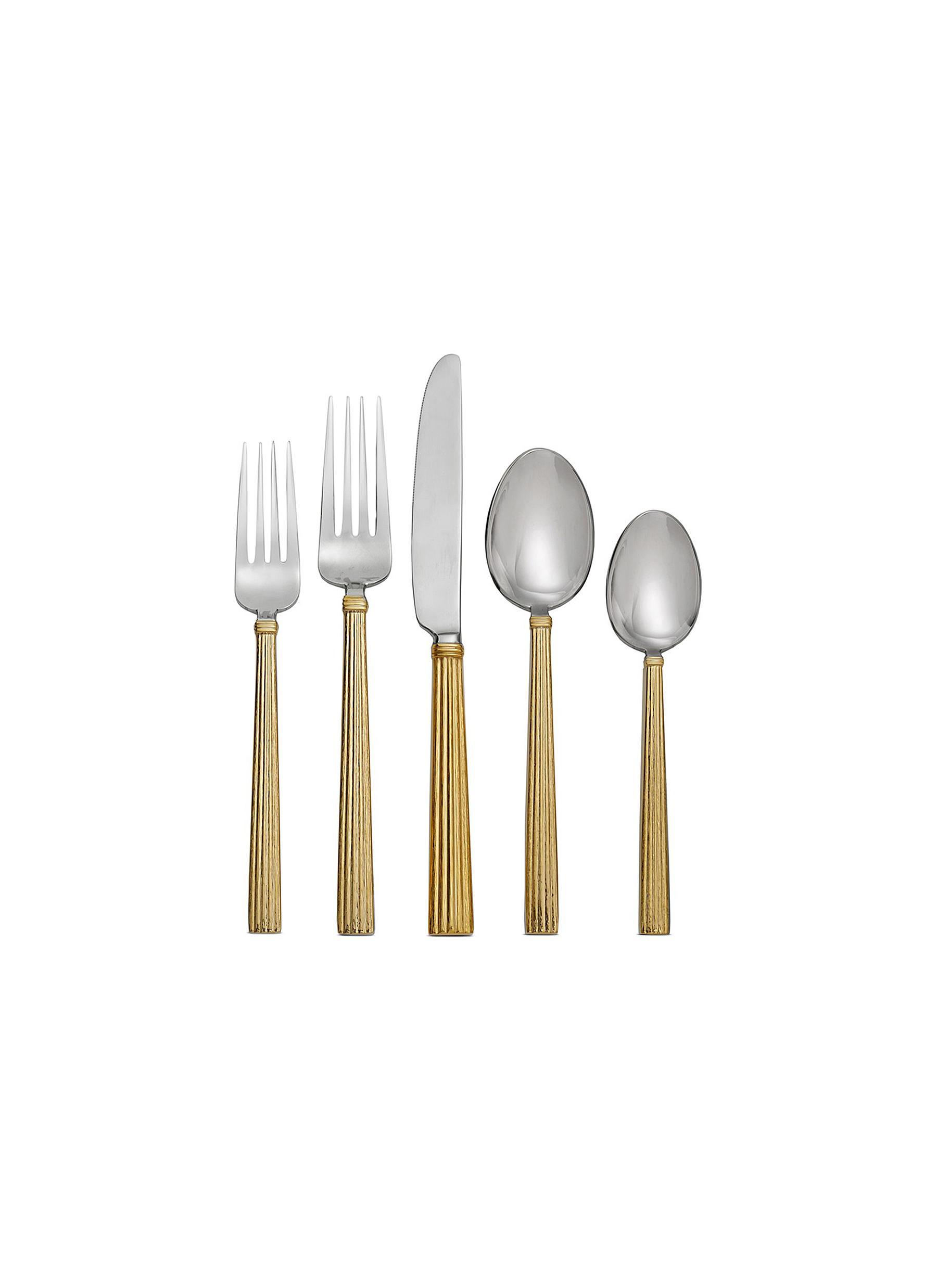Wheat 5-piece flatware set by Michael Aram