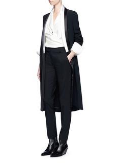 Haider AckermannContrast satin shawl lapel coat