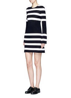 Calvin Klein CollectionStripe sheer jersey dress