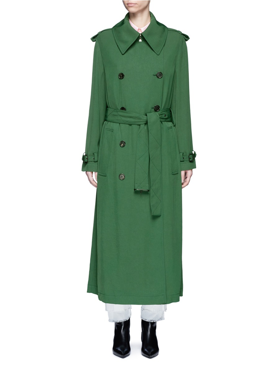 Lucie fluid twill trench coat by Acne Studios