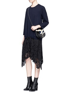 3.1 Phillip Lim Floral lace hem sweatshirt dress