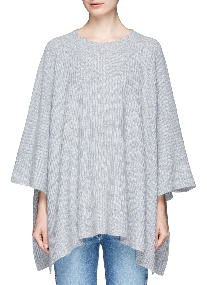 Ribbed cashmere cape by Chloé