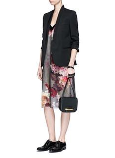 LanvinSatin trim bouquet print silk slip dress