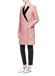 Victoria BeckhamSatin lapel marled bouclé tailored coat