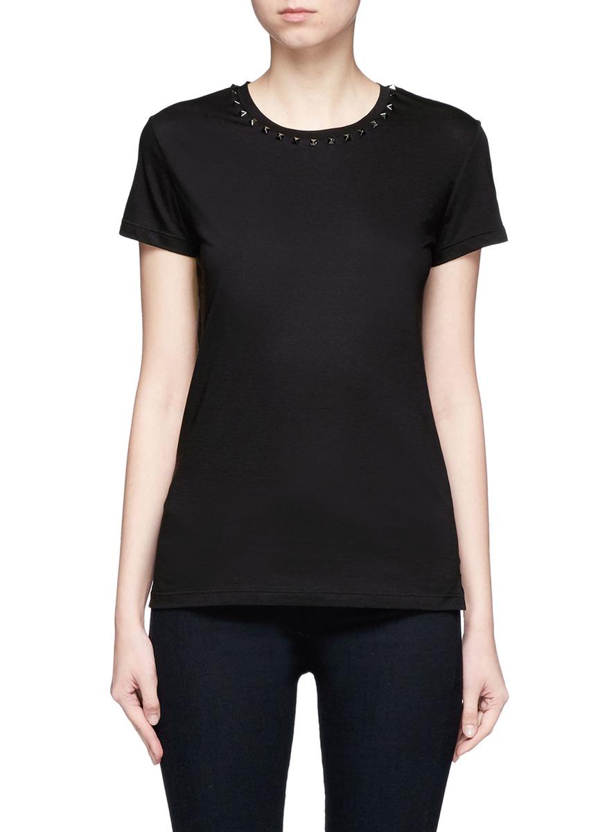 Rockstud Untitled 09 Noir jersey T-shirt by Valentino