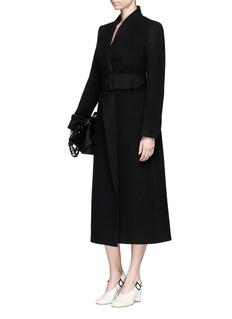 Stella McCartneyMismatched lapel wool melton coat