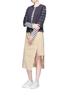 MONCLER Maglia拼接设计羽绒外套