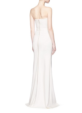 Back View - Click To Enlarge - Victoria Beckham - Twist front stretch cady corset gown
