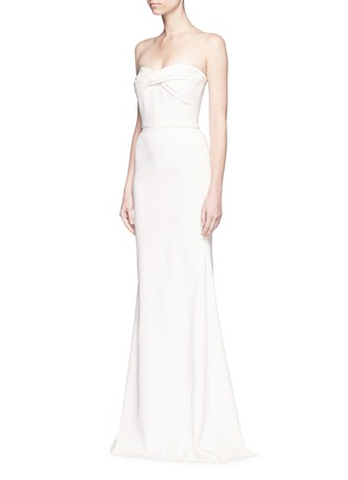 Front View - Click To Enlarge - Victoria Beckham - Twist front stretch cady corset gown