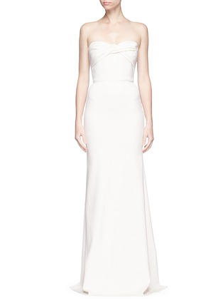 Main View - Click To Enlarge - Victoria Beckham - Twist front stretch cady corset gown