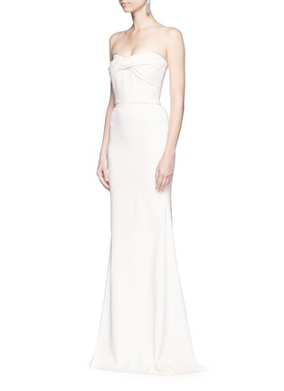 Figure View - Click To Enlarge - Victoria Beckham - Twist front stretch cady corset gown