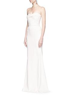 Victoria BeckhamTwist front stretch cady corset gown