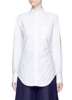 Thom BrowneButton down collar cotton Oxford shirt