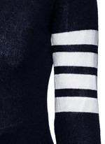 Stripe sleeve cashmere V-neck cardigan
