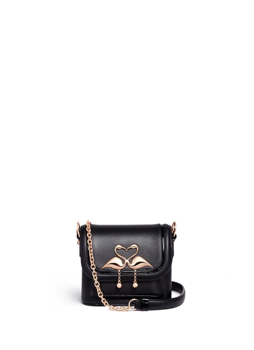 Claudie chain leather shoulder bag by Sophia Webster