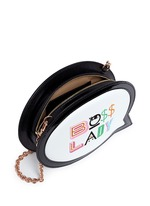 'Boss Lady' speech bubble leather bag