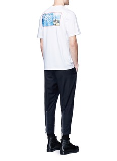 OAMCAviation photo print stripe cotton T-shirt