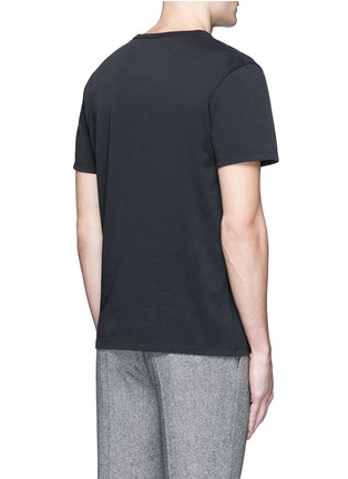 Back View - Click To Enlarge - Maison Kitsuné - 'Airman' flocked velvet patch T-shirt