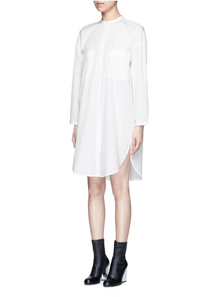 Front View - Click To Enlarge - Acne Studios - 'Esloane' oversized cotton poplin shirt dress
