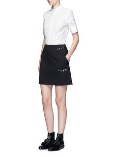 Acne Studios'Sybil' cotton poplin short sleeve shirt