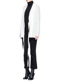 Acne Studios'Tine' crepe de Chine belted jacket