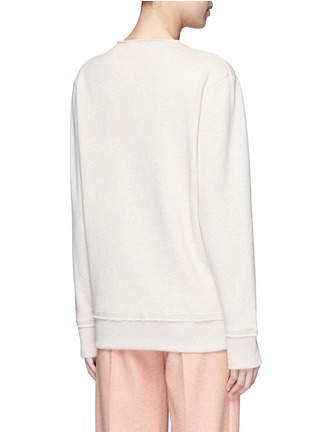 Back View - Click To Enlarge - Acne Studios - 'Carly' raw edge fleece sweatshirt