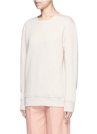Front View - Click To Enlarge - Acne Studios - 'Carly' raw edge fleece sweatshirt