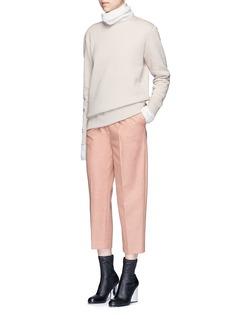 Acne Studios'Carly' raw edge fleece sweatshirt