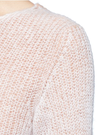 Detail View - Click To Enlarge - Acne Studios - 'Valla' mohair blend layered sweater
