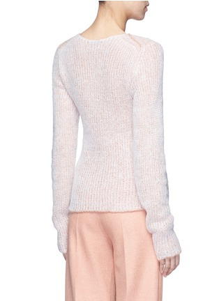 Back View - Click To Enlarge - Acne Studios - 'Valla' mohair blend layered sweater