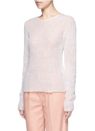 Front View - Click To Enlarge - Acne Studios - 'Valla' mohair blend layered sweater