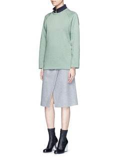 Acne Studios'Cassie' cotton blend fleece sweatshirt