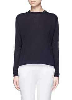 Acne Studios'Caci' kid mohair trim cotton sweater