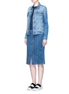 Acne Studios'Garea' button front denim pencil skirt