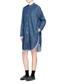 Acne Studios'Gracie' frayed denim shirt dress