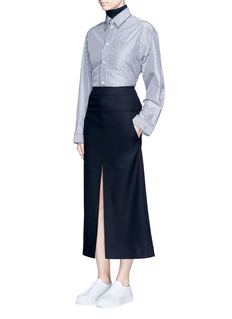 Acne Studios'Pascal' front slit felted wool blend maxi skirt