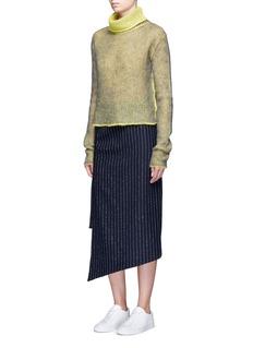 Acne Studios'Pate' pinstripe pencil wrap skirt