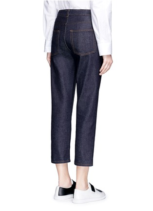 Back View - Click To Enlarge - Acne Studios - 'Row' cropped boyfriend jeans