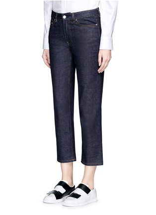 Front View - Click To Enlarge - Acne Studios - 'Row' cropped boyfriend jeans