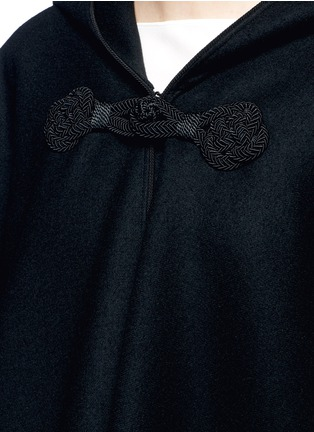 Detail View - Click To Enlarge - SAINT LAURENT - Felted wool hooded cape coat