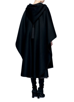 Back View - Click To Enlarge - Saint Laurent - Felted wool hooded cape coat