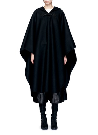 Main View - Click To Enlarge - SAINT LAURENT - Felted wool hooded cape coat