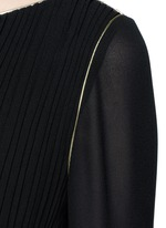 Metallic rope belt crepe dress