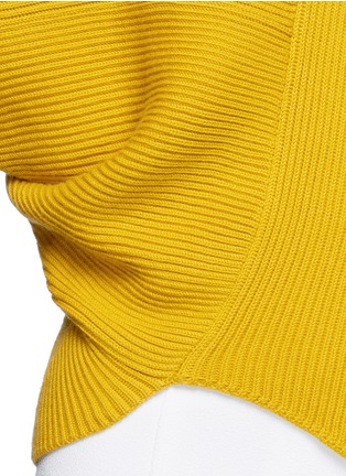 Detail View - Click To Enlarge - Stella McCartney - Asymmetric virgin wool sweater
