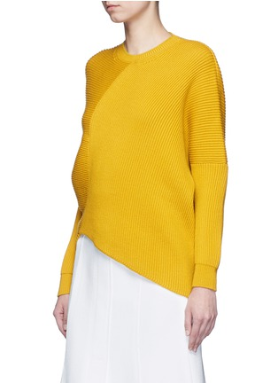 Front View - Click To Enlarge - Stella McCartney - Asymmetric virgin wool sweater