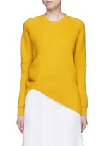 Asymmetric virgin wool sweater