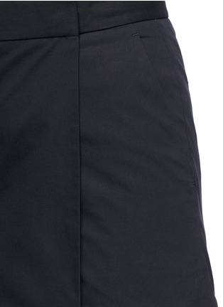 Detail View - Click To Enlarge - Theory - 'Rileena' asymmetric flap cotton poplin skort