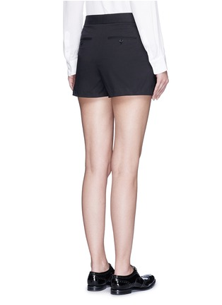 Back View - Click To Enlarge - Theory - 'Rileena' asymmetric flap cotton poplin skort